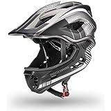ROCKBROS(ロックブロス)ヘルメット こども用 フルフェイスヘルメット キッズ フルフェイス 超軽量 高剛性 全面保護 2WAY プロテクター S/M マウンテンバイク 自転車ヘルメット