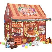 Springbuds キッズテント 子供用テント キッズハウス おままごと 知育玩具 果物屋 室内室外 子供用遊具 プレゼント 誕生日お祝い