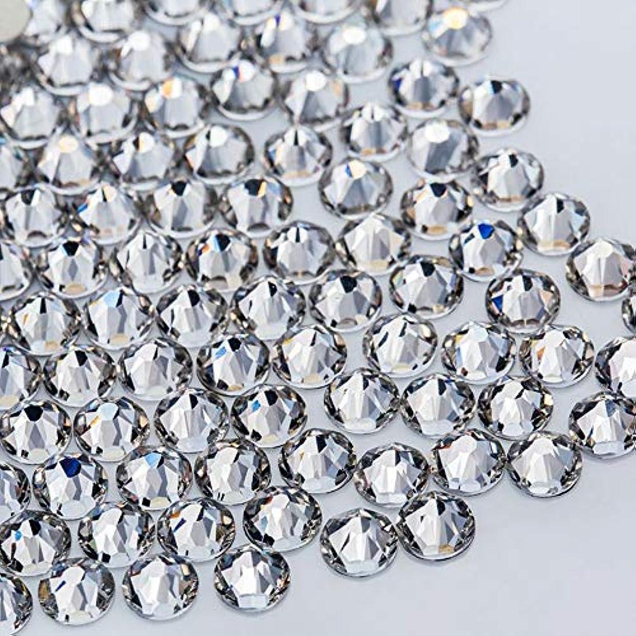 定規モールス信号年次WTX ガラス製 ラインストーン 高品質 1440粒 SS4~SS30 ネイル デコ クリスタル (SS20(約4.6-4.8mm), クリスタル)