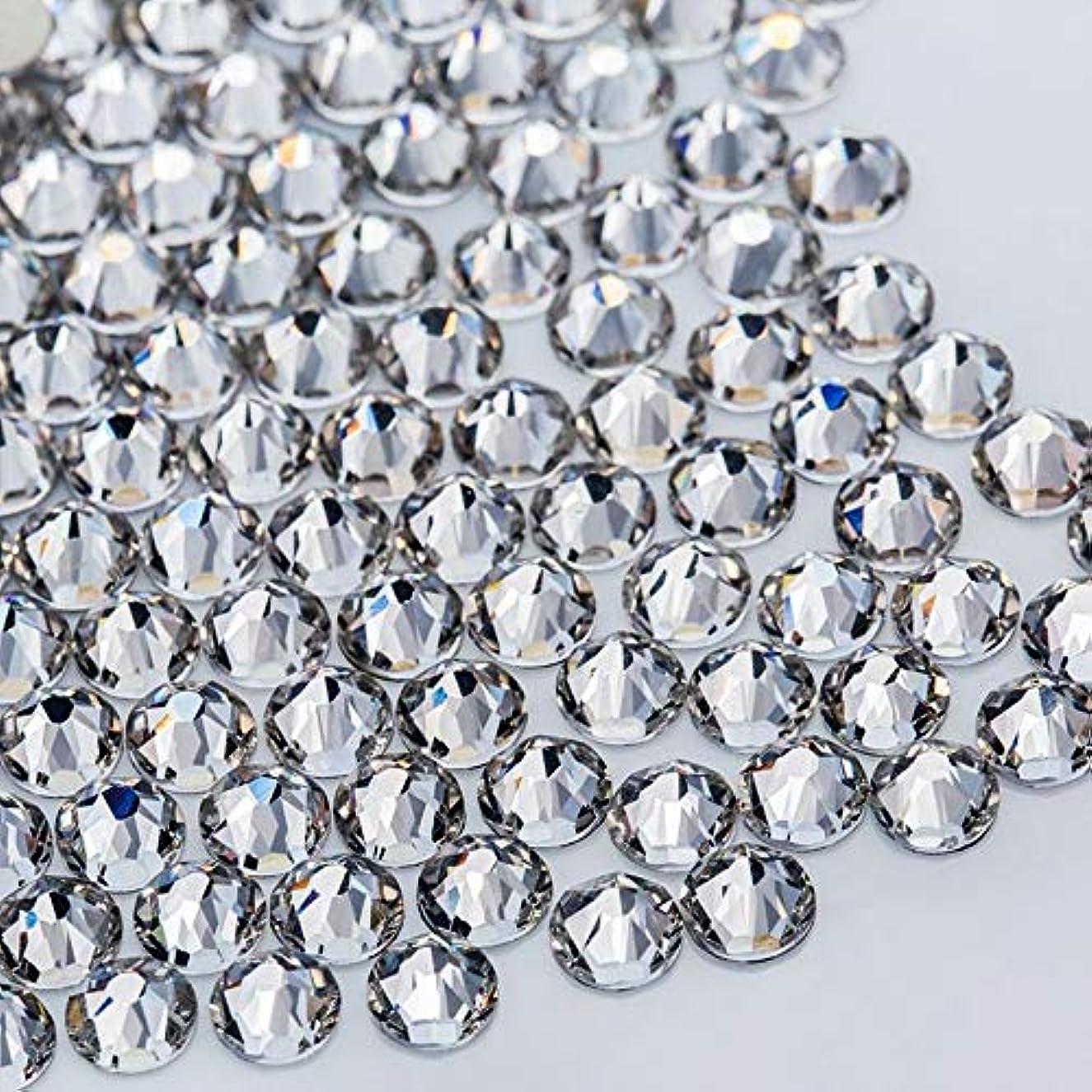 自体蚊著作権WTX ガラス製 ラインストーン 高品質 1440粒 SS4~SS30 ネイル デコ クリスタル (SS8(約2.3-2.5mm), クリスタル)