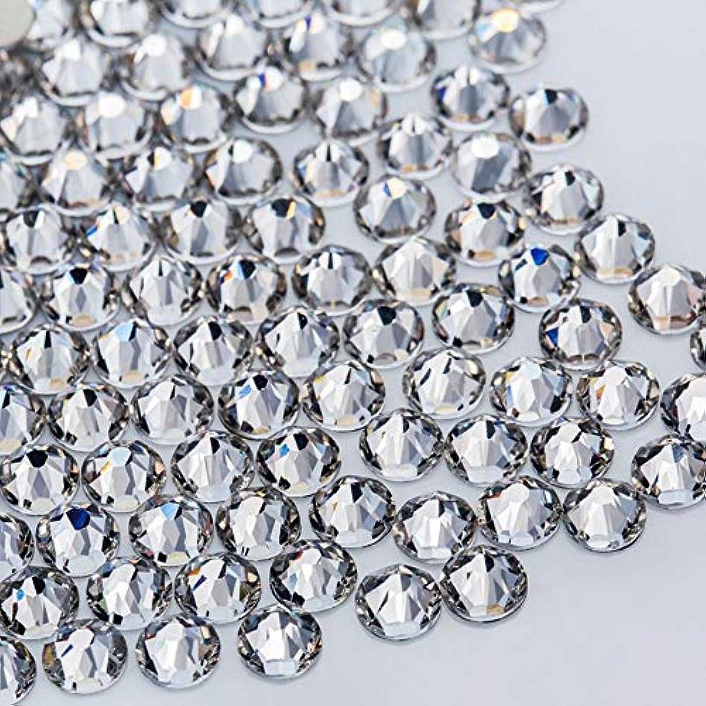 伝染性の狂乱カポックWTX ガラス製 ラインストーン 高品質 1440粒 SS4~SS30 ネイル デコ クリスタル (SS10(約2.7-2.9mm), クリスタル)