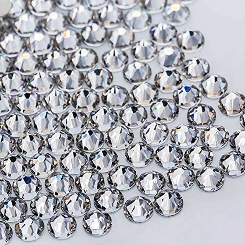 内なる添加剤判決WTX ガラス製 ラインストーン 高品質 1440粒 SS4~SS30 ネイル デコ クリスタル (SS20(約4.6-4.8mm), クリスタル)