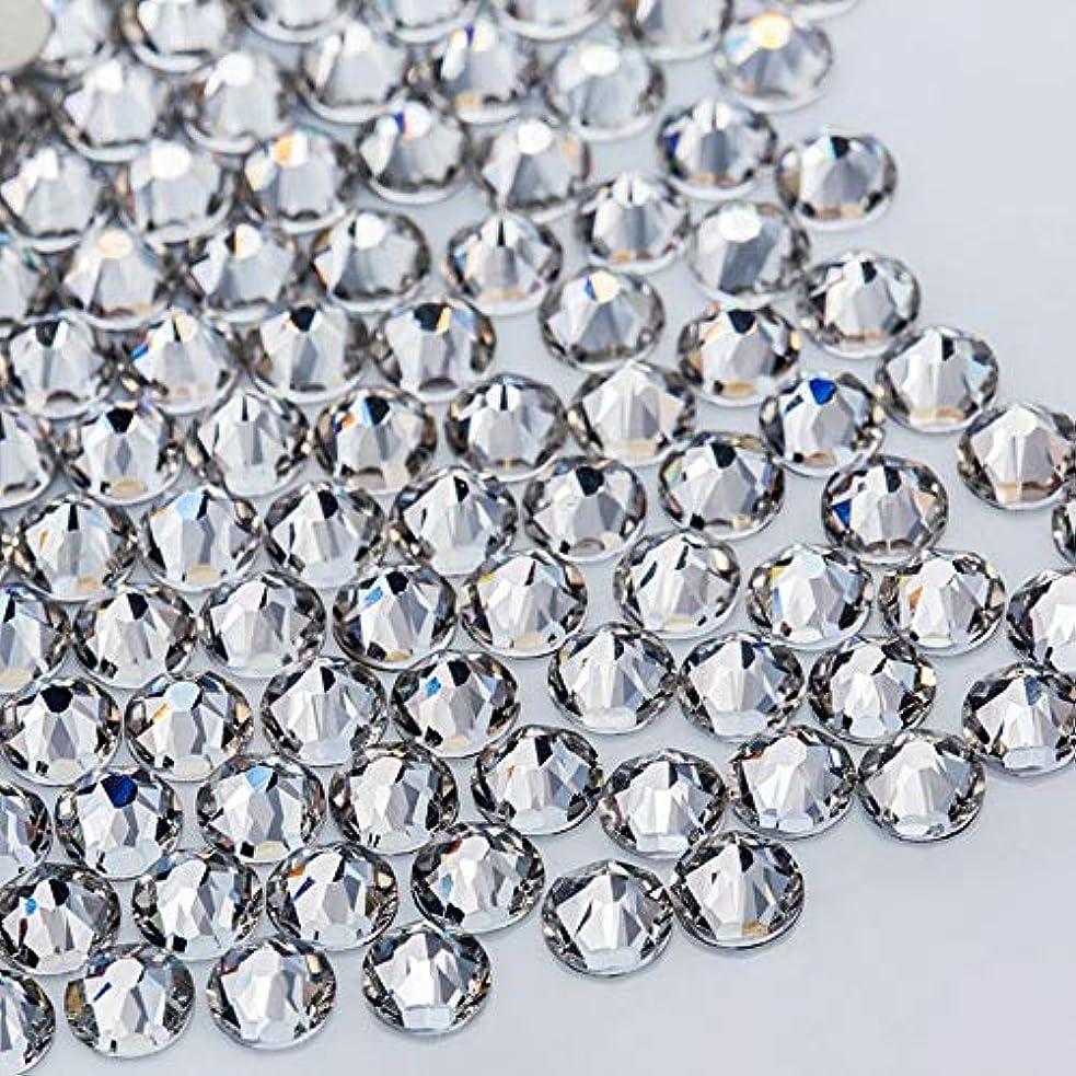 葉を集める大きさ商標WTX ガラス製 ラインストーン 高品質 1440粒 SS4~SS30 ネイル デコ クリスタル (SS20(約4.6-4.8mm), クリスタル)