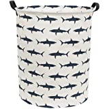 Sanjiaofen Large Storage Bins,Canvas Fabric Laundry Basket Collapsible Storage Baskets for Home,Office,Toy Organizer,Home Dec