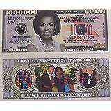 [ノベルティホールセール]Novelties Wholesale SET OF 10 BILLSMichelle Obama Million Dollar Novelty Bills [並行輸入品]