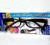 パソコン用メガネ ブルーライトカット率約40% 視界クッキリ (黒)