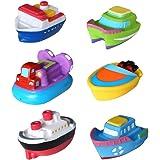 Baby Bath Toys NUOLUX 6pcs Floating Boat Toy