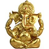 "BangBangDa 6.3"" H Resin Hindu God Statue Ganesh Figurine India Buddha Elephant Lord Ganesha Sculpture Idol Religious Yoga Stu"