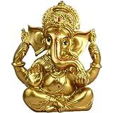 "BangBangDa 6.3"" H Resin Hindu God Statue Ganesh Figurine India Buddha Elephant Lord Ganesha Sculpture Idol Religious Yoga Stu"