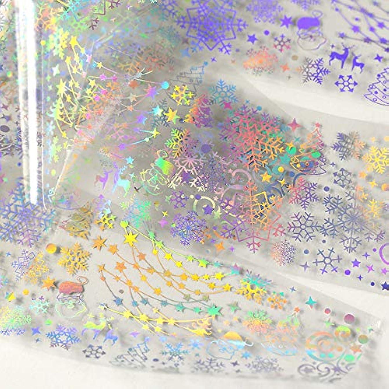 悪化するスプリット練るメジャーデザインネイルアート箔ステッカー転写デカールのヒントマニキュアDIY (C)