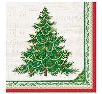 Classic Christmas Tree Paper Dinner Napkins, 16ct