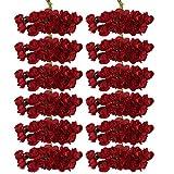 【ノーブランド品】パーティー デコレーション用 紙製 造花 ブーケ 直径1.5cm ミニバラ (レッド)