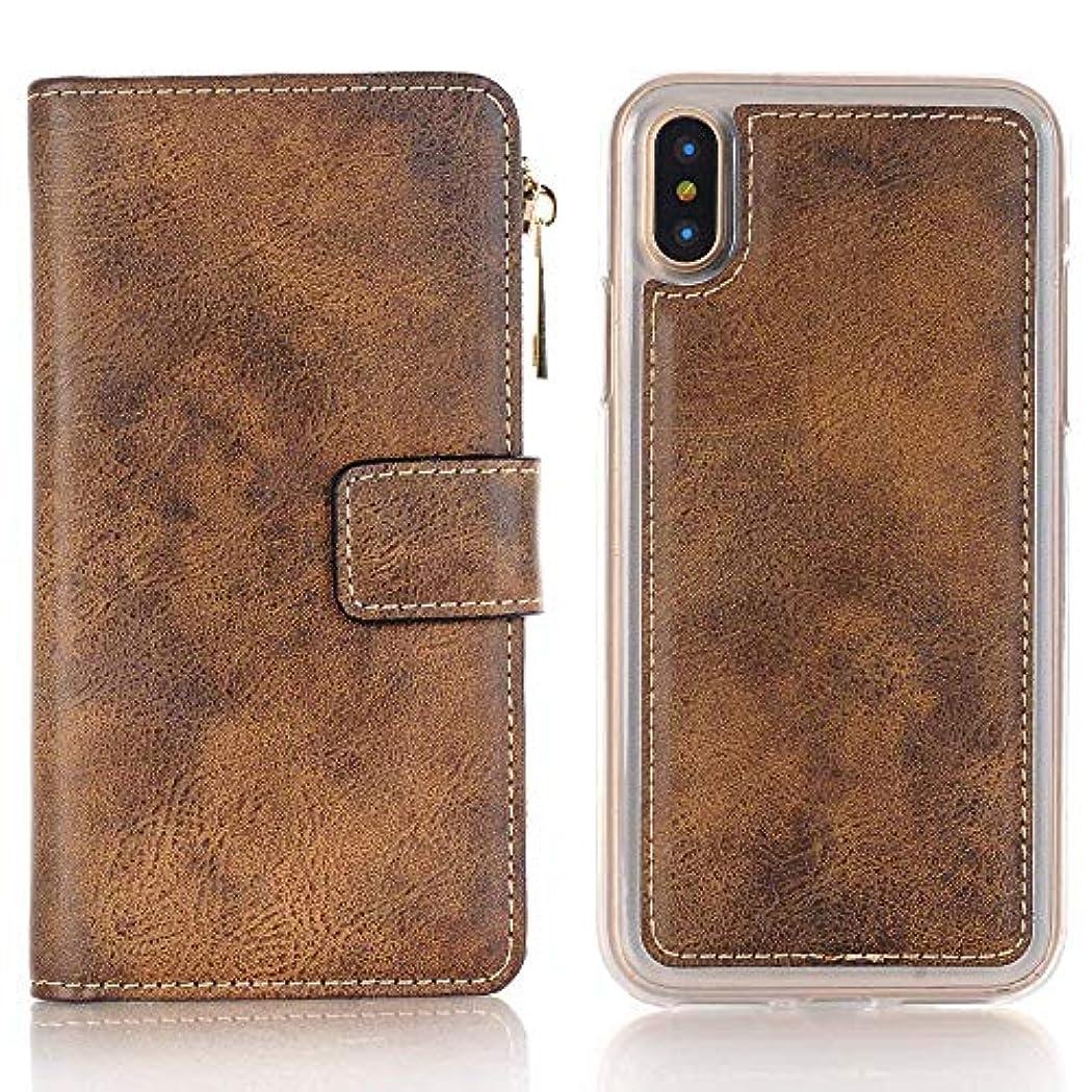 究極の方向分割iPhone ケース 手帳型 INorton 全面保護カバー 耐衝撃 レンズ保護 カード収納 分離式 高品質レザー シリコン 軽量 マグネット式
