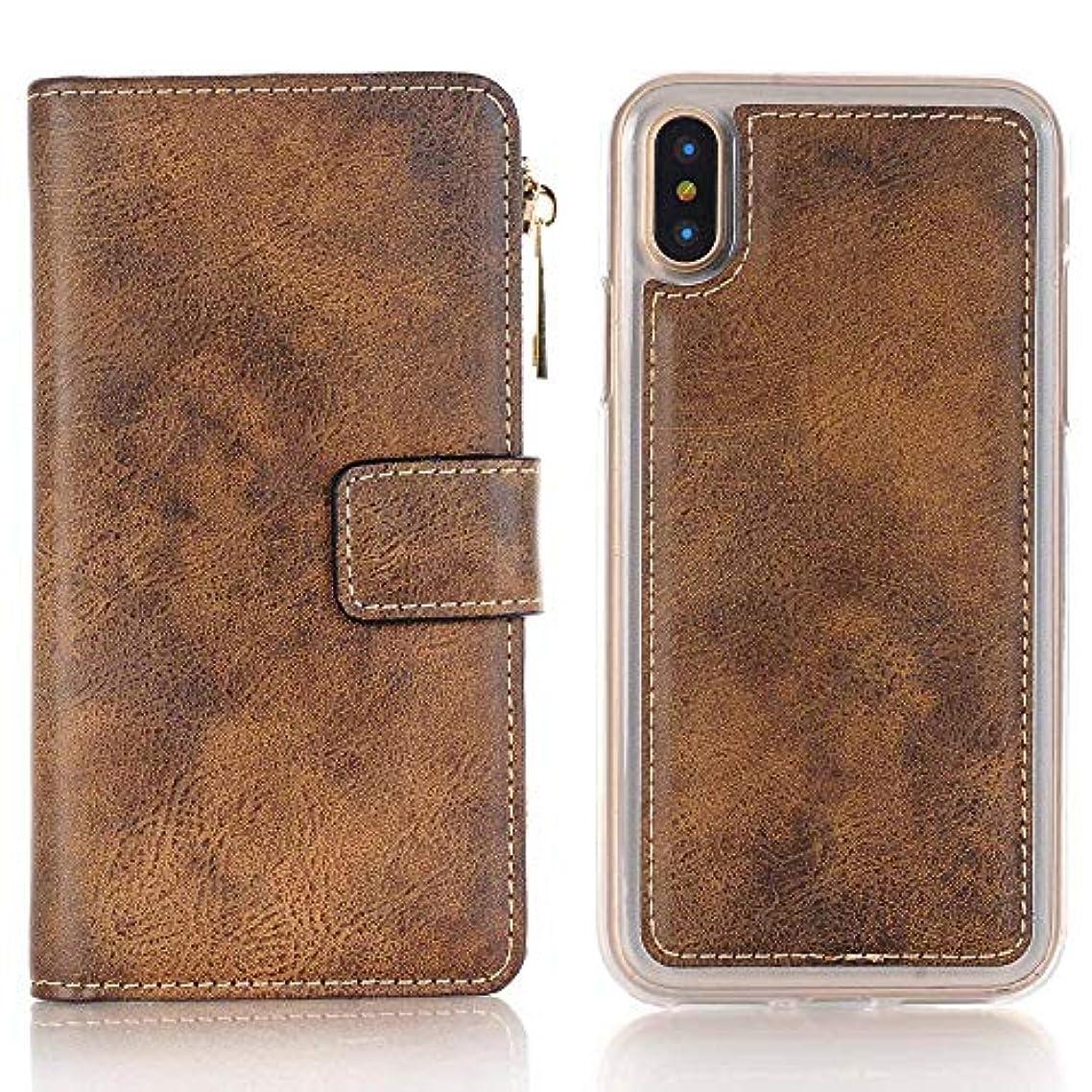 会計士に付ける反対するiPhone ケース 手帳型 INorton 全面保護カバー 耐衝撃 レンズ保護 カード収納 分離式 高品質レザー シリコン 軽量 マグネット式