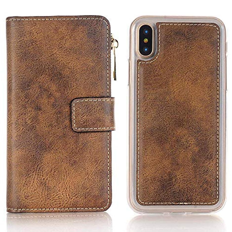正直製造業口iPhone ケース 手帳型 INorton 全面保護カバー 耐衝撃 レンズ保護 カード収納 分離式 高品質レザー シリコン 軽量 マグネット式