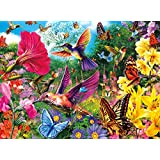Buffalo Games Hummingbird Garden Jigsaw Puzzle from the Vivid Collection (1000 Piece) by Buffalo Games