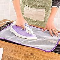 pinovkアイロンパッド保護用耐熱性メッシュ布アイロンClothes Scorch断熱材保護用ガードマット(ランダムカラー)
