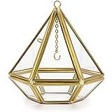 Hipiwe Jewelry Ring Display Holder - Pyramid Ring Holder Geometric Glass Ring Jewelry Box Wedding Ring Bearer Gift Box Hangin