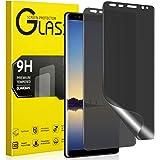 Maxwolf Galaxy Note 8 Privacy Screen Protector, [Anti-Spy] [Case Friendly] [Full Coverage] [Anti-Scratch] [3D Curve Edge] Pre