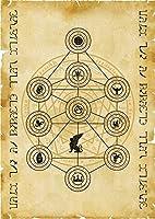 Scroll Tree of Sephiroth World Creation Enoch Tradition セフィロス世界創造エノクの伝統のスクロールツリー
