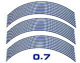 AUTOMAX izumi リム(17~19)青0.7cm▼直線ブルー反射 幅0.7cmリムステッカー17~19インチ対応 リムライン