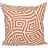 E byデザインpg-n9-celosia orange-16 pg-n9-celosia orange-16幾何装飾枕、Celosiaオレンジ、Celosiaオレンジ