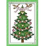 Anself DIY クロスステッチ 刺繍キット 14CTクリスマスツリーのパターン 13 * 21cm ホームの装飾