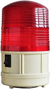 【gioiellante】 電池式 LED 警告灯 フラッシュライト マグネット付き 赤色  KR-LIG004