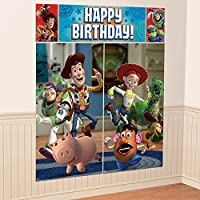 New Disney Toy Story Scene Setter Wall Decorations Kit - Kids Birthday and Party Supplies Decoration by Disney