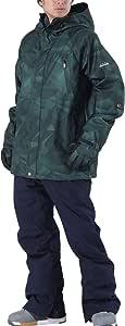 PONTAPES(ポンタぺス) スノーボード ウェア 上下セット 全20色 メンズ レディース 6サイズ XS-XXL 耐水圧10,000mm PS3-SET PS3-01(D-1030*M-390) Sサイズ スノーウェア スノボウェア スキーウェア ウエア 男性用 女性用 スノボーウェア 19-20 新作 おしゃれ スノーボード ウェア スノボ ウェア スキー ウェア スノボー ウェア ジャケット パンツ 中綿 防寒 滑雪服 グリーン 緑 マルチ 柄