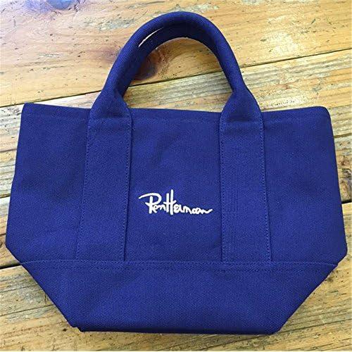 ロンハーマン Ron Hermanトートバッグ エコバッグ キャンバスバッグ ハンドバッグ 3色 (ブルー) [並行輸入品]
