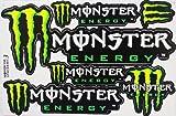 モンスターエナジー ステッカー (MONSTER ENERGY 6p Mix Sticker (横 type A) / Green) L サイズ (グリーン)