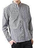 (アーケード) ARCADE メンズ 春 ボタンダウンシャツ ブロード ストライプ チェック ギンガム ウィンドペン 長袖シャツ M ギンガムチェックブラック(10)