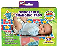 Mighty Clean Baby Disposable Changing Pad - 20 ct by Mighty Clean Baby [並行輸入品]
