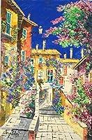 絵画 油絵 マルコ 作 「イタリア風景・郊外の村」 インテリア リビング