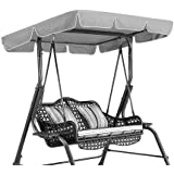 Ejoyous Swing Chair Seat Top Cover Replacement Outdoor Waterproof Rainproof Dust Guard Protector Swing Canopy Replacement for