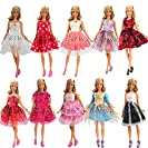 「Barwawa」ランダム5枚セット 人形 バービー 服 ドレス ドール用 人形用 アクセサリー ジェニー...