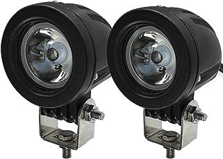 LEDワークライト 最新版 CREE製 10W LED作業灯 狭角タイプ 10-30VDC対応 12V/24V兼用 6000K ホワイト 高輝度・防水・防塵・長寿命・耐衝撃 丸型 スポットライト 車外灯 オートバイ/機械/自動車/トラック用品 汎用作業灯 狭角30度 2個セット