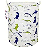 "TIBAOLOVER 19.7"" Large Sized Waterproof Foldable Canvas Laundry Hamper Bucket with Handles for Storage Bin,Kids Room,Home Org"