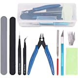 Findfly 9Pcs Gundam Model Tools Kit Hobby Building Tools Craft Set for Basic Model Building, Repairing and Fixing