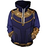 zhacaoji Unisex Fashion Captain Superhero Galaxy 3D Digital Printed Pullover Hoodies Hooded Sweatshirts for Sport and Party