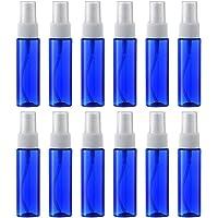 スプレーボトル 12本セット 詰替ボトル 空容器 霧吹き PETボトル (ブルー)