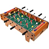 Tabletop Foosball Table,Portable Mini Wooden Soccer Game Table Top w/Footballs/Soccer Game Set for Recreational Foosball Game
