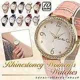 【ベルエア】Bel Air 腕時計 レディース ウォッチ ラインストーン エッフェル塔 アナログ OSD87 (ゴールド×ホワイト)