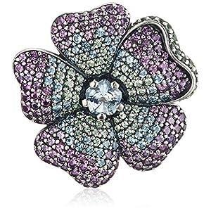 [パンドラ] PANDORA Glorious Bloom ネックレスペンダント(シルバー クリスタル) 正規輸入品 397081NRPMX