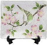彩光舎 七宝焼き 四季の詩飾皿 桜にウグイス 023-20
