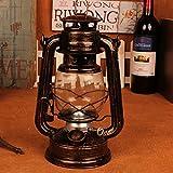 SOEKAVIA 灯油ランプ ランタン キャプテンスタッグ アンティーク調 芯付き (ブロンズ S) プレゼント