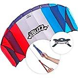 FLEXIFOIL 2.05m Power Kite Big Buzz Sport Foil | Kids & Adult Kiting | Beach Summer Trick Kites | Outside Stunt Toy | Outdoor