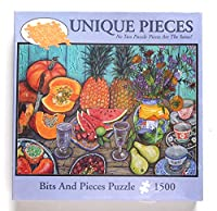 Bits andピースパズル1500ピース–Uniqueピース–No 2つは同じパズルピース–Sarina Artworks : Food Glorious Food no. 463061500ピース