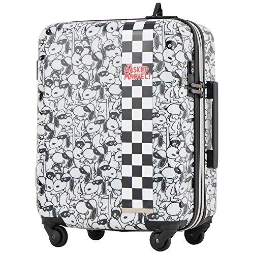 キャリーケース ピーナッツ スヌーピー 当社限定 スーツケース かわいい 機内持ち込み可 TSAロック エキスパンダブル PEANUTS SNOOPY ファスナータイプ 4輪 35L 1日 2日用 47cm Sサイズ PN-003 (MASKED WHITE)